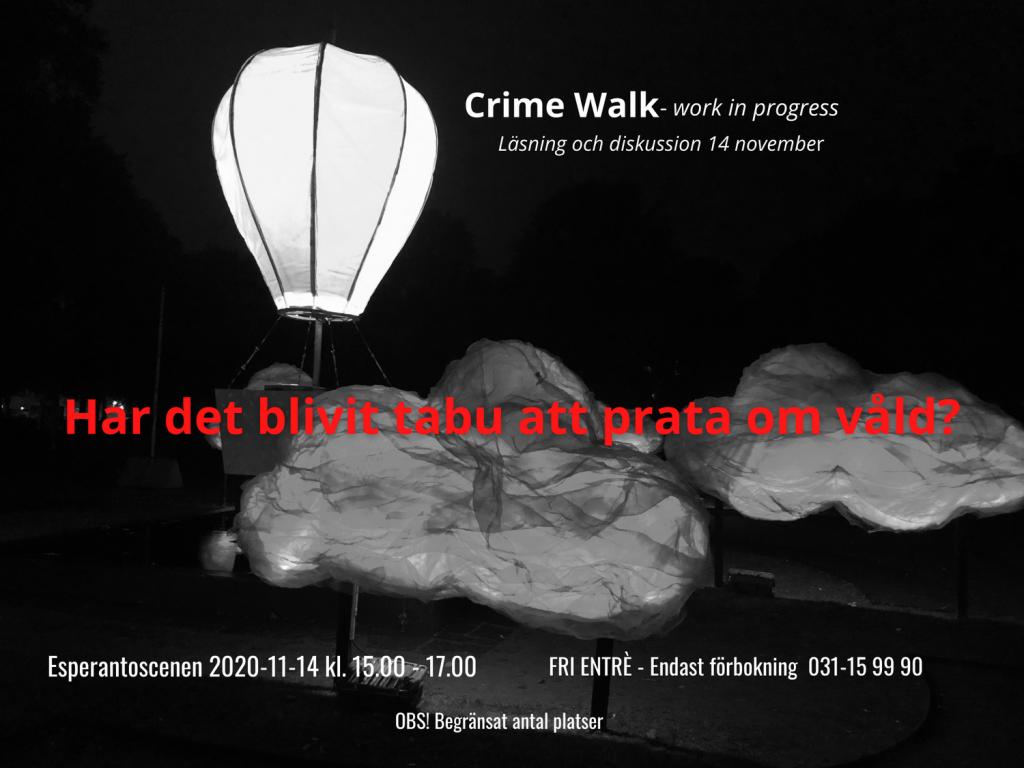 Crime Walk 14 november Esperantoscenen reading med diskussion